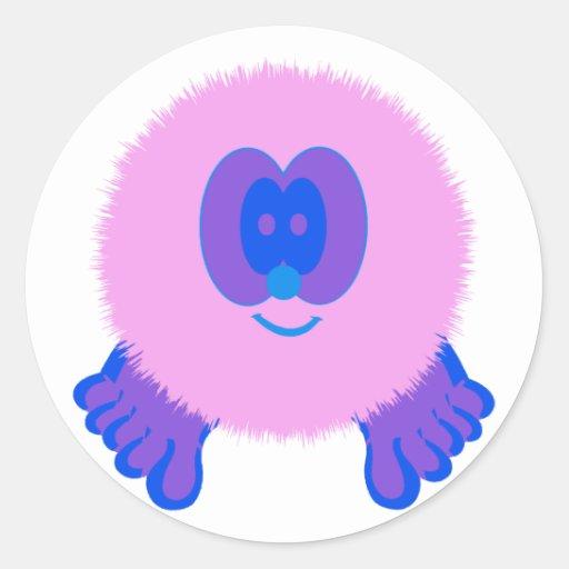 Pink and Blue Pom Pom Pal Stickers