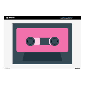"""Pink and Blue Retro Cassette Tape Skin For 13"""" Laptop"""