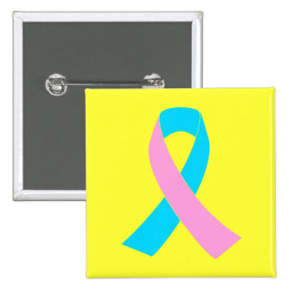 Pink and Blue Ribbon Awareness Buttons