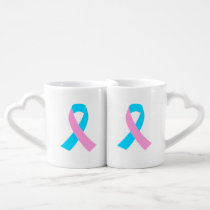 Pink and Blue Ribbon Awareness Coffee Mug Set