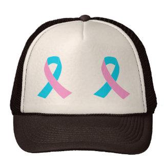Pink and Blue Ribbon Awareness Mesh Hats