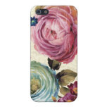 Pink and Blue Rose Cover For iPhone 5