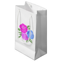 Pink and Blue Roses Gift Bag