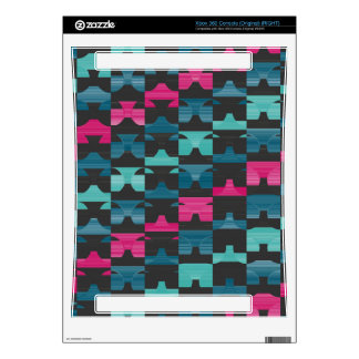 Pink and blue shapes pattern decals for xbox 360
