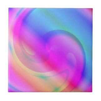 Pink And Blue Silky Swirl Tiles