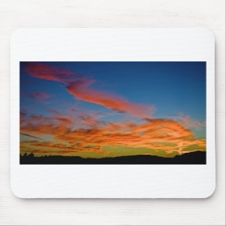pink and blue sky mouse pad