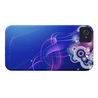 Pink and blue smoke art Case-Mate blackberry case