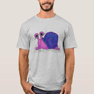 Pink and Blue Snail Shirt