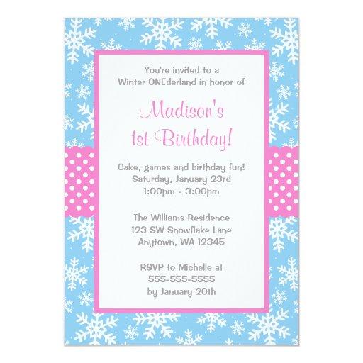 Winter Onederland Invitation as good invitation design