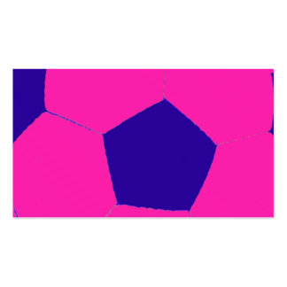Pink and Blue Soccer Ball Business Card
