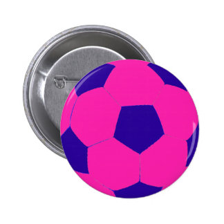 Pink and Blue Soccer Ball Pin