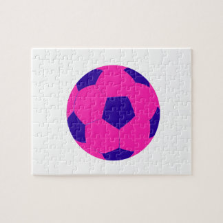 Pink and Blue Soccer Ball Jigsaw Puzzle