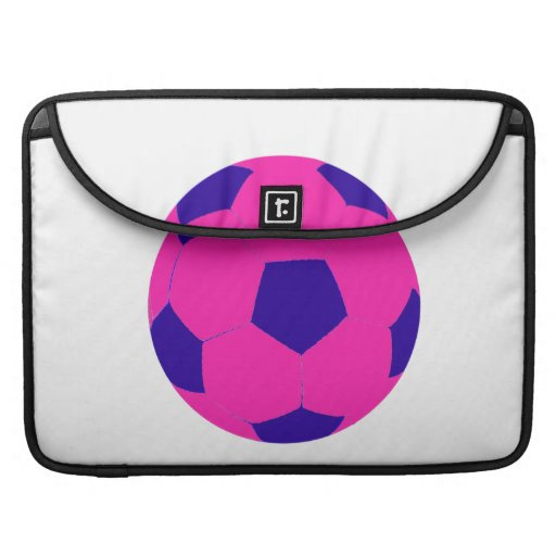 Pink and Blue Soccer Ball MacBook Pro Sleeve