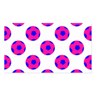 Pink and Blue Soccer Ball Pattern Double-Sided Standard Business Cards (Pack Of 100)