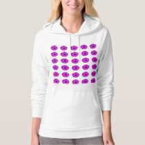 Pink and Blue Soccer Ball Pattern Hoodie