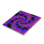 Pink and Blue Spiral Bubbles tile