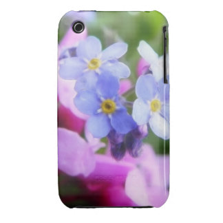 Pink And Blue Spring Flowers iPhone 3 Cover