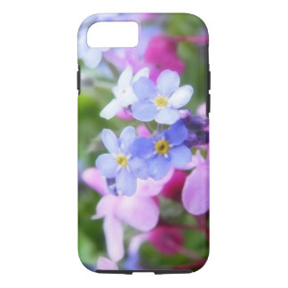 Pink And Blue Spring Flowers iPhone 8/7 Case