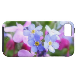 Pink And Blue Spring Flowers iPhone SE/5/5s Case