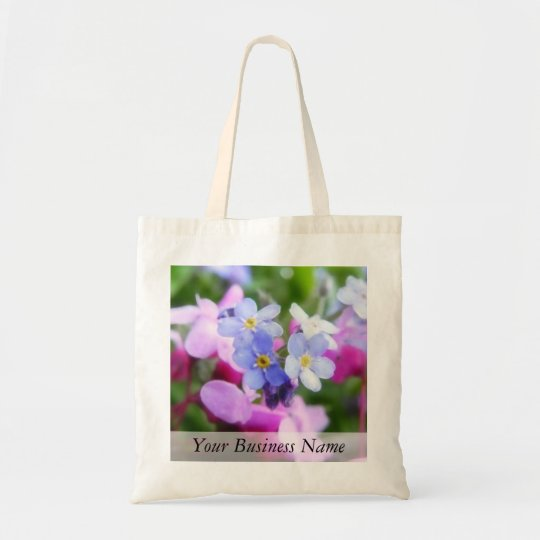 Pink And Blue Spring Flowers Tote Bag