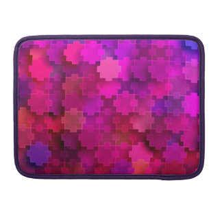 Pink and Blue Square Puzzle Pieces Pattern MacBook Pro Sleeves