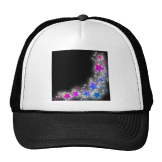 Pink and Blue Star Dust Hat