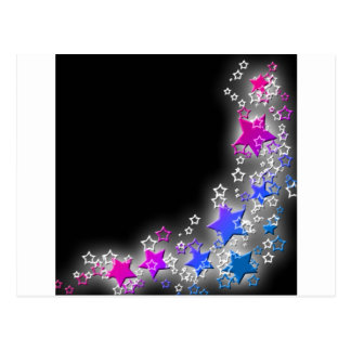 Pink and Blue Star Dust Postcard