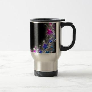 Pink and Blue Star Dust Travel Mug