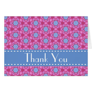 Pink and Blue Stars Bridal Shower Thank You V04 Stationery Note Card