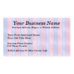 Pink and Blue Stripes Business Card Templates