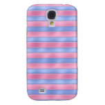 Pink and Blue Stripes Galaxy S4 Covers