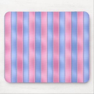 Pink and Blue Stripes Mouse Pad