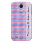Pink and Blue Stripes Samsung Galaxy S4 Cover