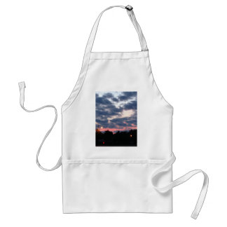 Pink and Blue Sunset Adult Apron