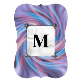 Pink and Blue Swirl Invitation