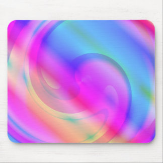 Pink And Blue Swirl Mouse Pad