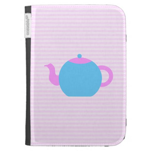 Pink and Blue Teapot Picture. Cases For The Kindle
