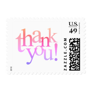 Pink and Blue Thanks to You Postage Stamp