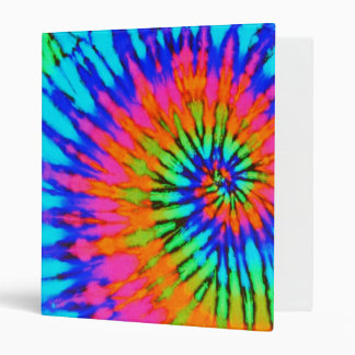 Pink and Blue Tie Dye Binder