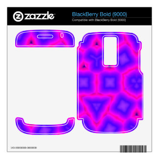 Pink and blue Trendy pattern BlackBerry Decals