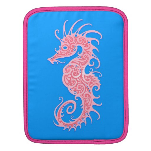 Pink and Blue Tribal Seahorse Sleeves For iPads