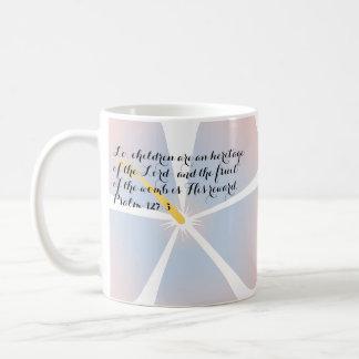 Pink and Blue Tropical Hibiscus Mug Bible Verse