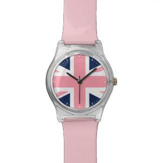 Pink and Blue Union Jack Wristwatch