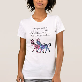 Pink and Blue Zebra Expecting T-Shirt