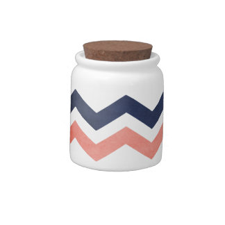 Pink and Blue Zig Zag Pattern Candy Dish
