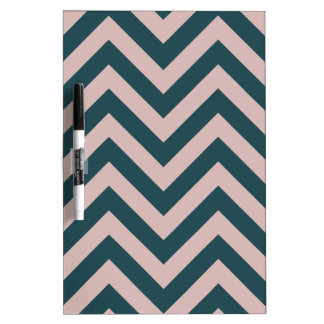 Pink and Blue Zig Zag Pattern Dry-Erase Whiteboards