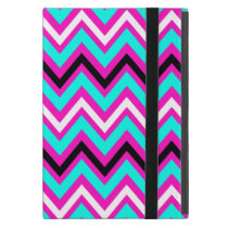 Pink and Blue Zigzag Pattern Cover For iPad Mini