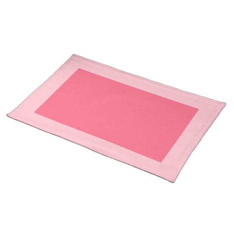 Pink and Bright Pink Placemat