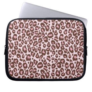 Pink and Brown Cheetah Print Laptop Sleeves