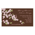 Pink and Brown Cherry Blossom Business Cards